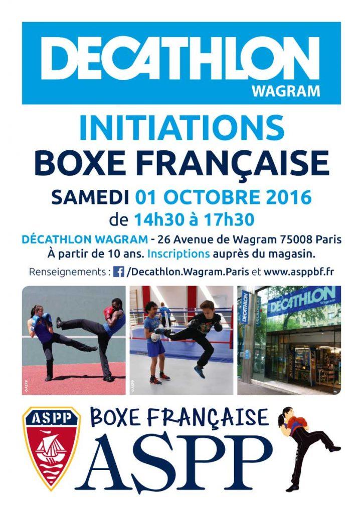 Décathlon Wagram initiation ASPP Boxe Française