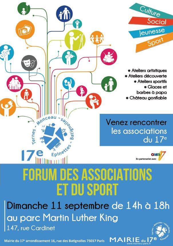 Forum des associations du 17e 2016