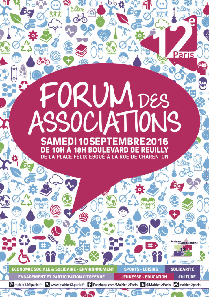 Forum des associations du 12e 2016