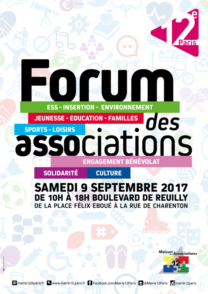 Forum des associations Paris 12e 2017