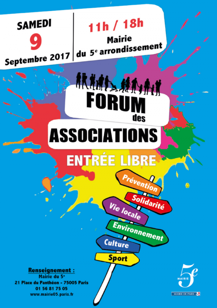 Forum des associations Paris 5e 2017